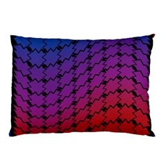 Colorful Red & Blue Gradient Background Pillow Case (two Sides) by Simbadda