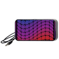 Colorful Red & Blue Gradient Background Portable Speaker (black) by Simbadda