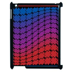 Colorful Red & Blue Gradient Background Apple Ipad 2 Case (black) by Simbadda