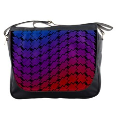 Colorful Red & Blue Gradient Background Messenger Bags by Simbadda