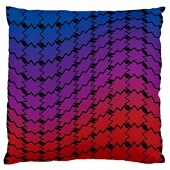 Colorful Red & Blue Gradient Background Large Cushion Case (two Sides) by Simbadda