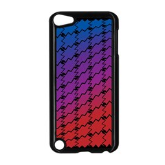 Colorful Red & Blue Gradient Background Apple Ipod Touch 5 Case (black) by Simbadda
