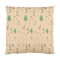 Five Leaf Green Brown Purple Floral Flower Tulip Sunflower Standard Cushion Case (two Sides)
