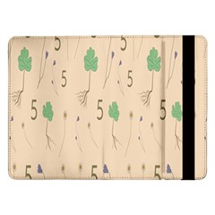 Five Leaf Green Brown Purple Floral Flower Tulip Sunflower Samsung Galaxy Tab Pro 12 2  Flip Case by Alisyart