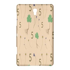 Five Leaf Green Brown Purple Floral Flower Tulip Sunflower Samsung Galaxy Tab S (8 4 ) Hardshell Case