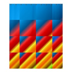 Gradient Map Filter Pack Table Shower Curtain 60  X 72  (medium)