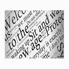 Abstract Minimalistic Text Typography Grayscale Focused Into Newspaper Small Glasses Cloth by Simbadda