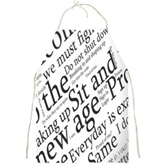 Abstract Minimalistic Text Typography Grayscale Focused Into Newspaper Full Print Aprons by Simbadda