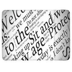 Abstract Minimalistic Text Typography Grayscale Focused Into Newspaper Samsung Galaxy Tab 7  P1000 Flip Case by Simbadda