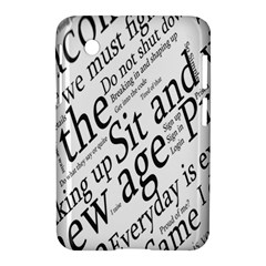 Abstract Minimalistic Text Typography Grayscale Focused Into Newspaper Samsung Galaxy Tab 2 (7 ) P3100 Hardshell Case