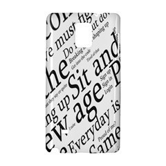 Abstract Minimalistic Text Typography Grayscale Focused Into Newspaper Samsung Galaxy Note 4 Hardshell Case by Simbadda