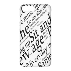 Abstract Minimalistic Text Typography Grayscale Focused Into Newspaper Apple Iphone 7 Plus Hardshell Case by Simbadda