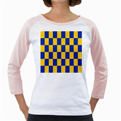 Flag Plaid Blue Yellow Girly Raglans