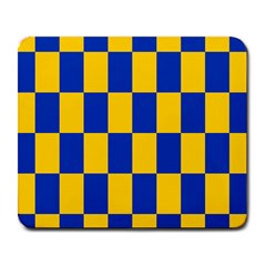 Flag Plaid Blue Yellow Large Mousepads by Alisyart