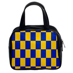 Flag Plaid Blue Yellow Classic Handbags (2 Sides) by Alisyart