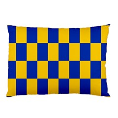 Flag Plaid Blue Yellow Pillow Case by Alisyart