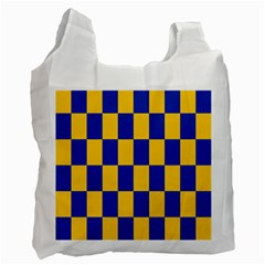 Flag Plaid Blue Yellow Recycle Bag (one Side) by Alisyart