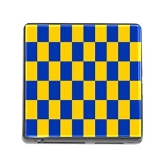 Flag Plaid Blue Yellow Memory Card Reader (square) by Alisyart