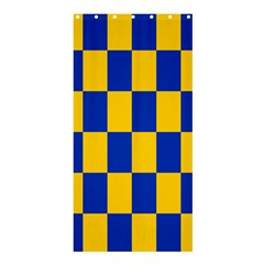 Flag Plaid Blue Yellow Shower Curtain 36  X 72  (stall)  by Alisyart