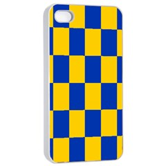 Flag Plaid Blue Yellow Apple Iphone 4/4s Seamless Case (white) by Alisyart