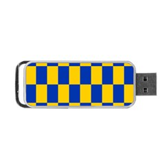Flag Plaid Blue Yellow Portable Usb Flash (one Side) by Alisyart