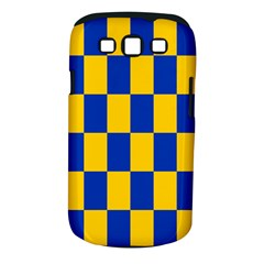 Flag Plaid Blue Yellow Samsung Galaxy S Iii Classic Hardshell Case (pc+silicone)