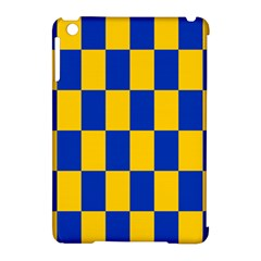 Flag Plaid Blue Yellow Apple Ipad Mini Hardshell Case (compatible With Smart Cover)