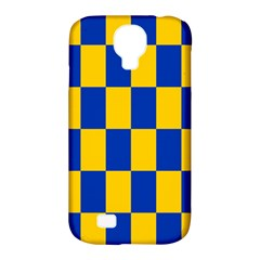 Flag Plaid Blue Yellow Samsung Galaxy S4 Classic Hardshell Case (pc+silicone) by Alisyart