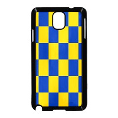 Flag Plaid Blue Yellow Samsung Galaxy Note 3 Neo Hardshell Case (black)