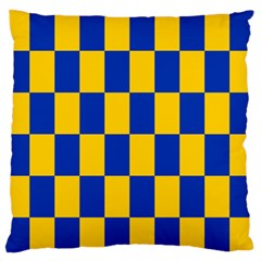 Flag Plaid Blue Yellow Standard Flano Cushion Case (two Sides) by Alisyart