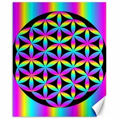 Flower Of Life Gradient Fill Black Circle Plain Canvas 16  X 20