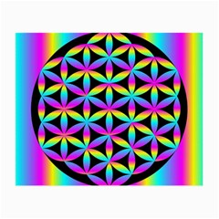 Flower Of Life Gradient Fill Black Circle Plain Small Glasses Cloth (2 Side) by Simbadda