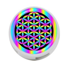 Flower Of Life Gradient Fill Black Circle Plain 4 Port Usb Hub (two Sides)  by Simbadda