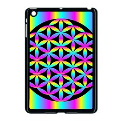 Flower Of Life Gradient Fill Black Circle Plain Apple Ipad Mini Case (black) by Simbadda