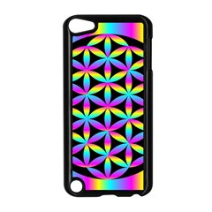 Flower Of Life Gradient Fill Black Circle Plain Apple Ipod Touch 5 Case (black) by Simbadda