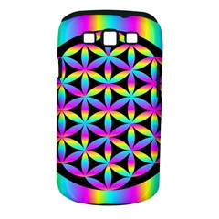Flower Of Life Gradient Fill Black Circle Plain Samsung Galaxy S Iii Classic Hardshell Case (pc+silicone) by Simbadda