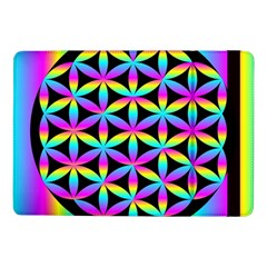 Flower Of Life Gradient Fill Black Circle Plain Samsung Galaxy Tab Pro 10 1  Flip Case by Simbadda