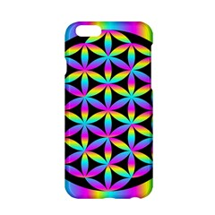 Flower Of Life Gradient Fill Black Circle Plain Apple Iphone 6/6s Hardshell Case by Simbadda
