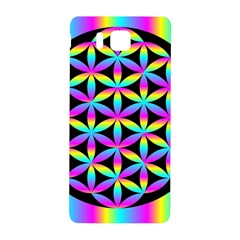 Flower Of Life Gradient Fill Black Circle Plain Samsung Galaxy Alpha Hardshell Back Case by Simbadda