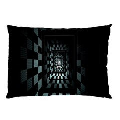 Optical Illusion Square Abstract Geometry Pillow Case by Simbadda
