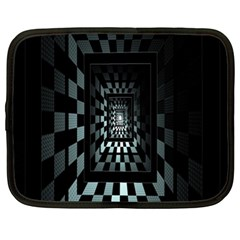 Optical Illusion Square Abstract Geometry Netbook Case (xl)