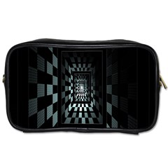 Optical Illusion Square Abstract Geometry Toiletries Bags by Simbadda