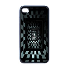 Optical Illusion Square Abstract Geometry Apple Iphone 4 Case (black) by Simbadda