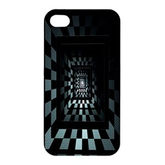 Optical Illusion Square Abstract Geometry Apple Iphone 4/4s Premium Hardshell Case by Simbadda