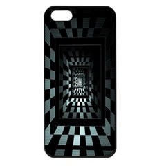 Optical Illusion Square Abstract Geometry Apple Iphone 5 Seamless Case (black)