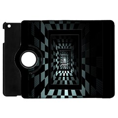 Optical Illusion Square Abstract Geometry Apple Ipad Mini Flip 360 Case by Simbadda