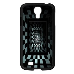 Optical Illusion Square Abstract Geometry Samsung Galaxy S4 I9500/ I9505 Case (black)