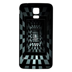 Optical Illusion Square Abstract Geometry Samsung Galaxy S5 Back Case (white)