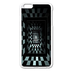 Optical Illusion Square Abstract Geometry Apple Iphone 6 Plus/6s Plus Enamel White Case by Simbadda