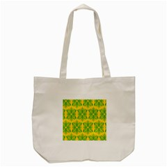 Floral Flower Star Sunflower Green Yellow Tote Bag (cream)
